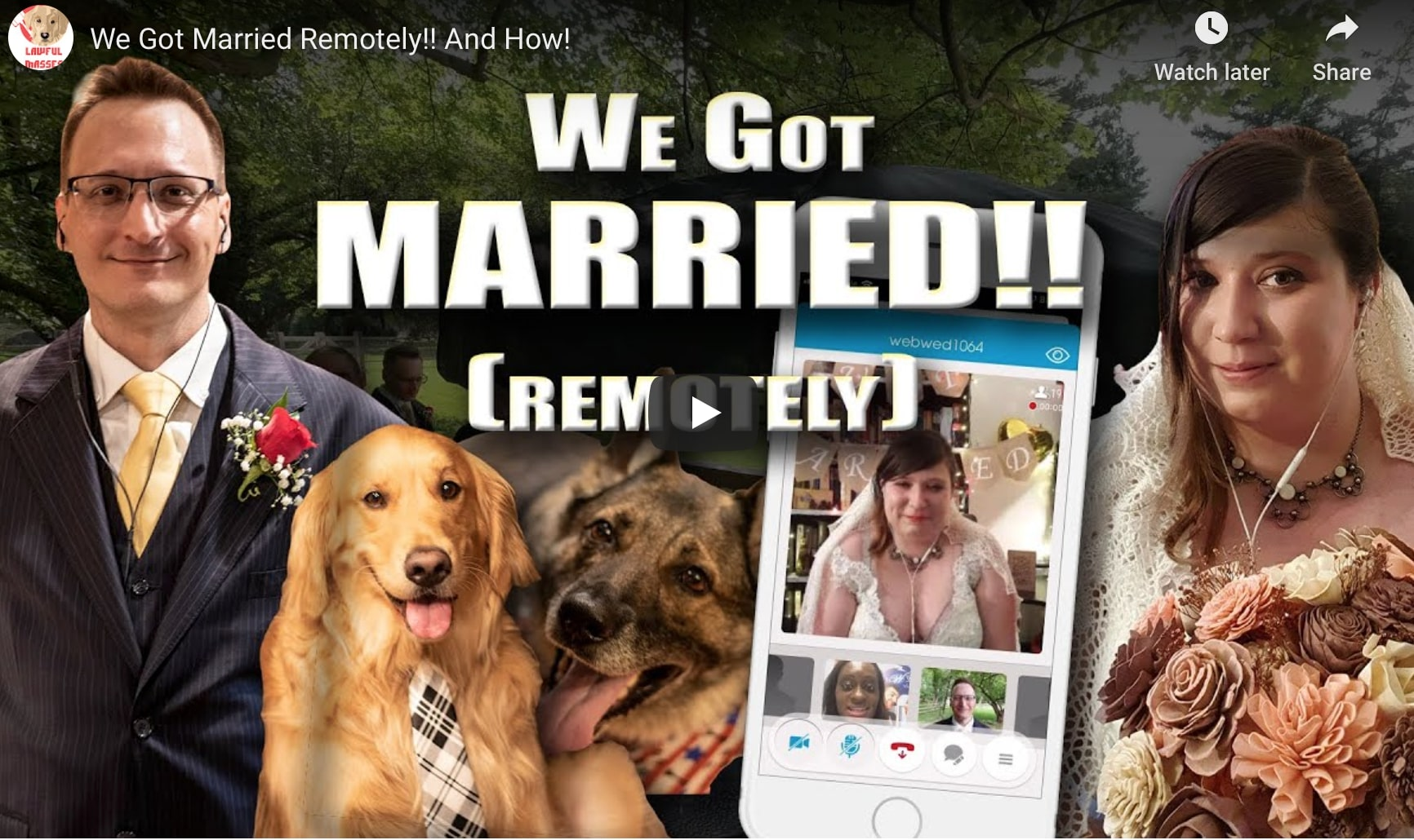 We got married remotely